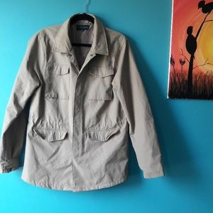 Men's Five Four Khaki Trench Coat, New Without Tag